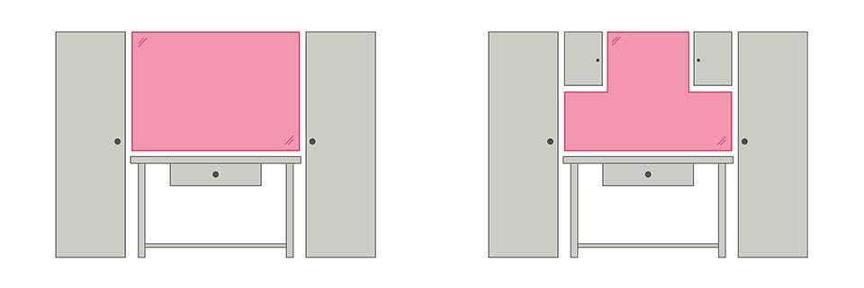 Forme du panneau porte-outils