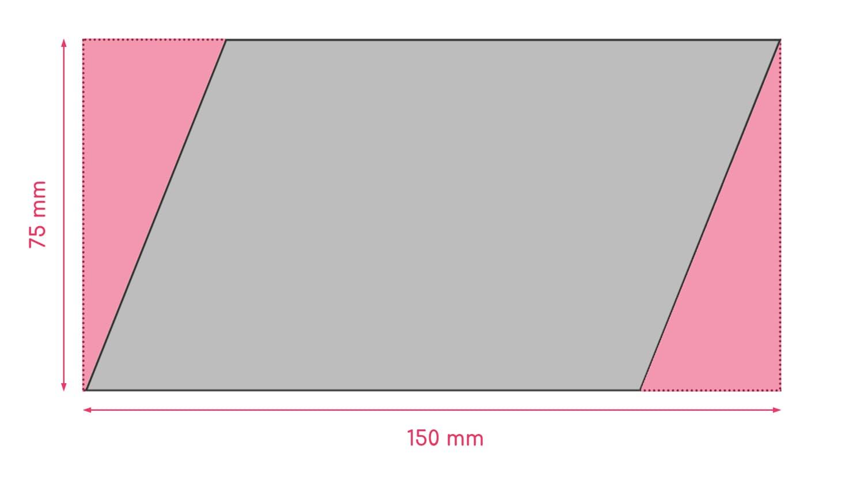Dimensions de la découpe trapèze exemple