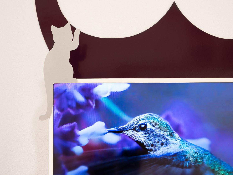 Chat en aluminium anti-traces pour décorer la TV