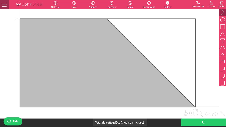 Exemple 2 forme trapèze