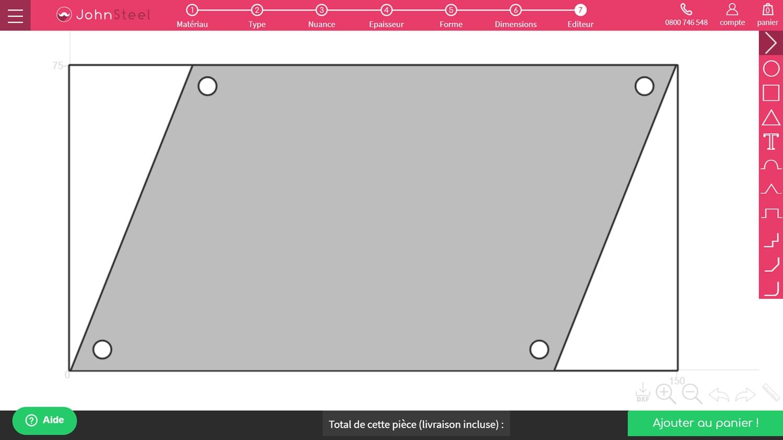 Exemple 4 forme trapèze