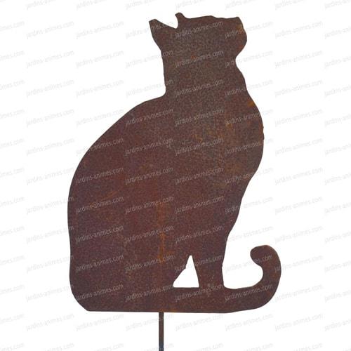 Silhouette de chat en corten