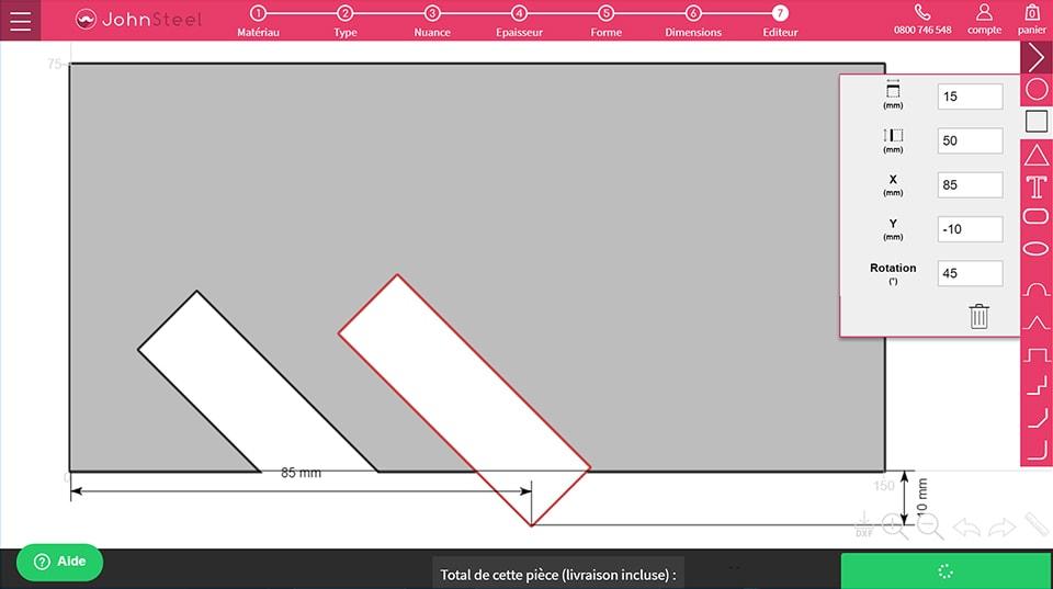 Faire des encoches symétriques étape 4