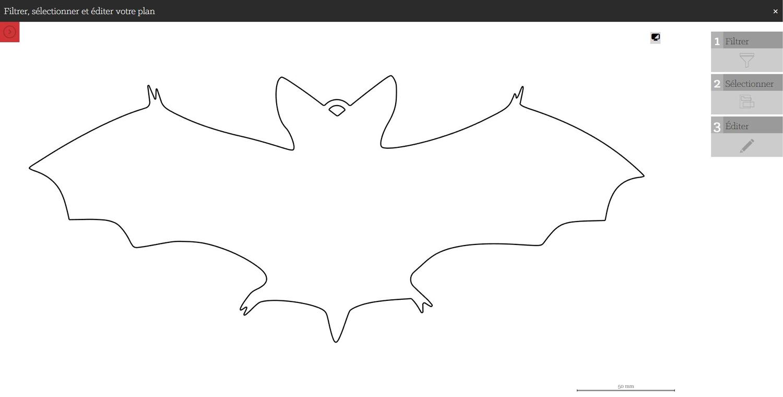 DXF chauve-souris pour Halloween