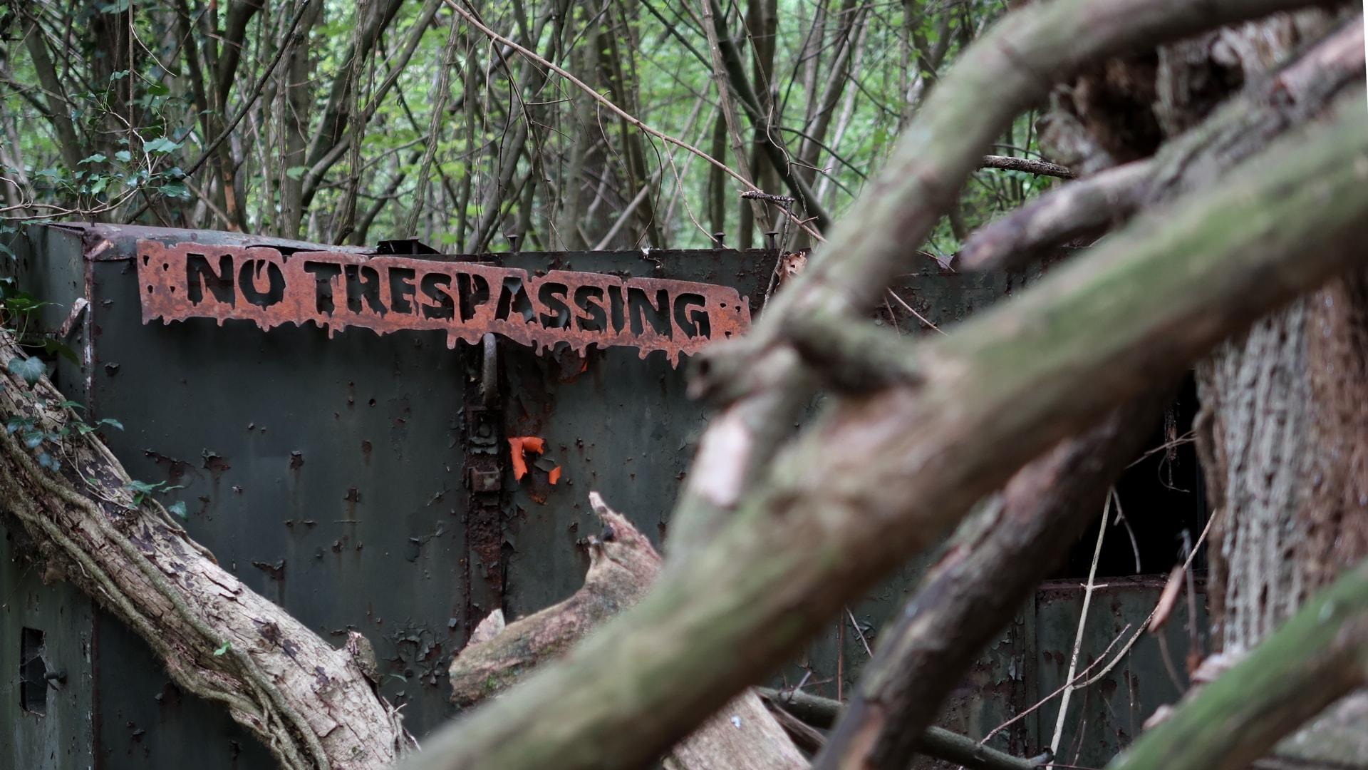 Pancarte No Trespassing sur-mesure