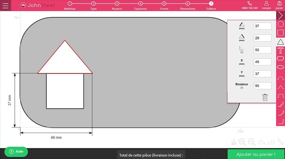 Formes complexes maison