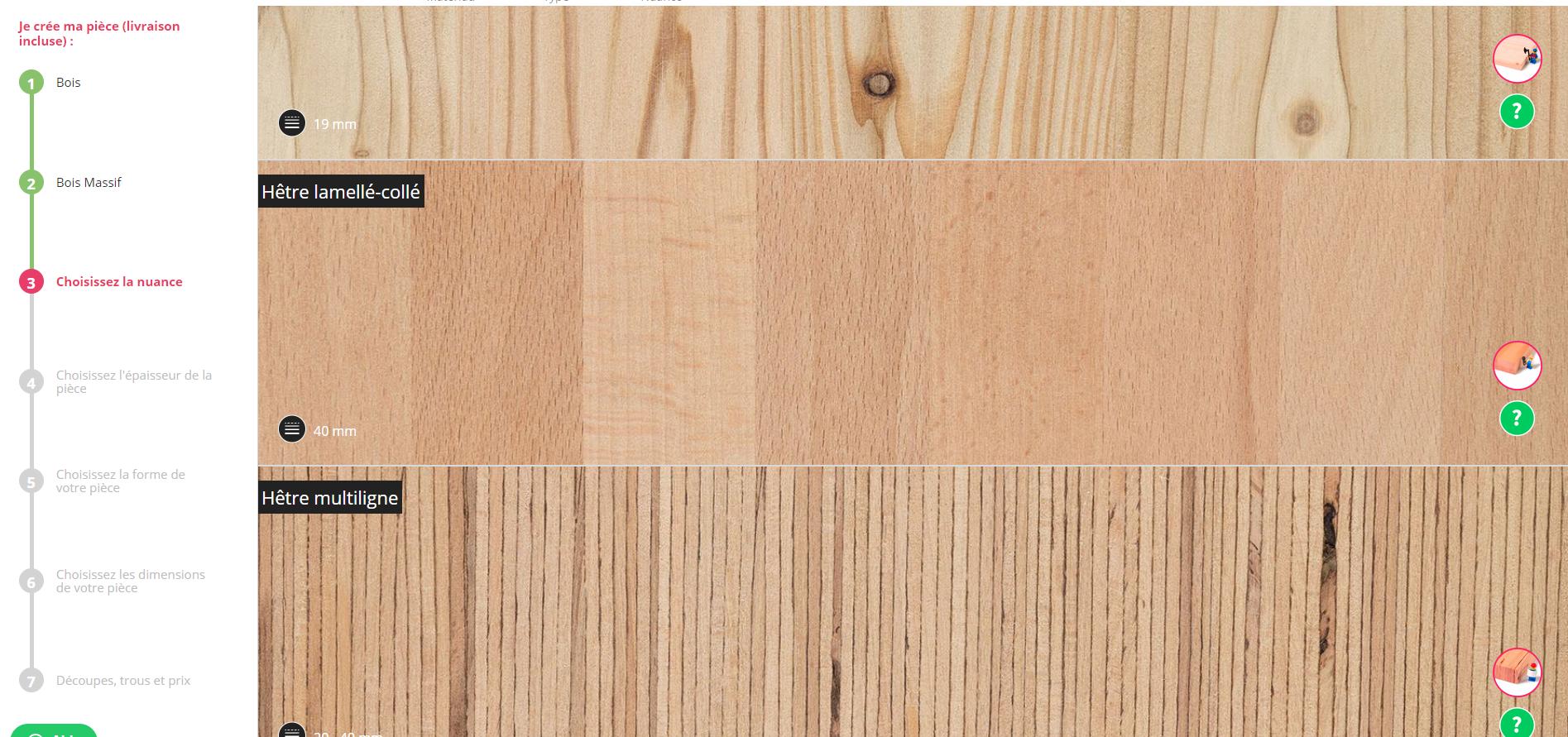 fabriquer console bois massif sur mesure