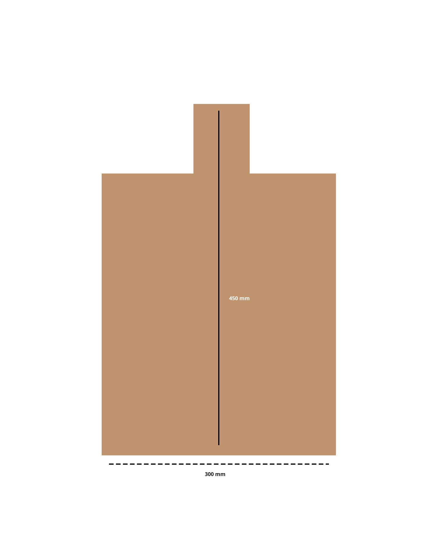 croquis-planche-à-découper-en-bois-sur-mesure