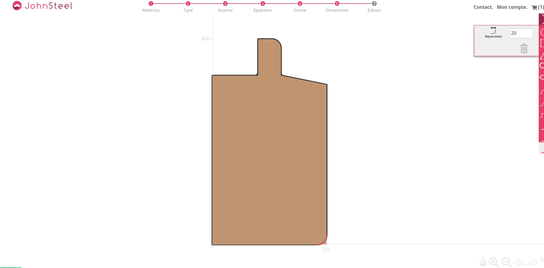 planche de découpe sur mesure en bois