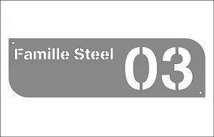 Familien-Hausnummer-metall-inox