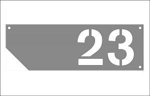 Hausnummer-schräger-Zuschnitt