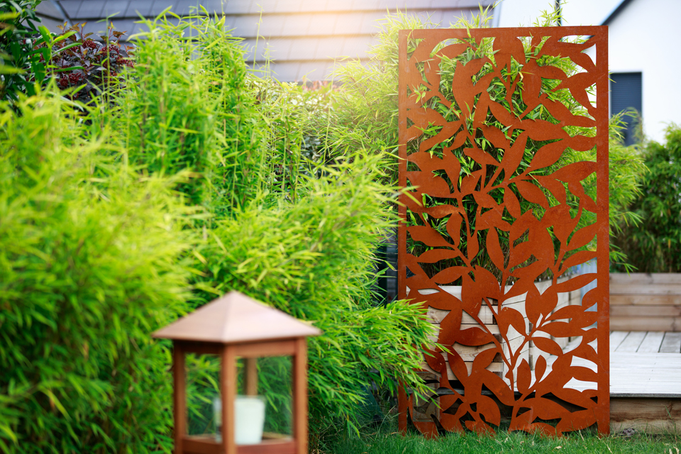 Decorative corten steel screen