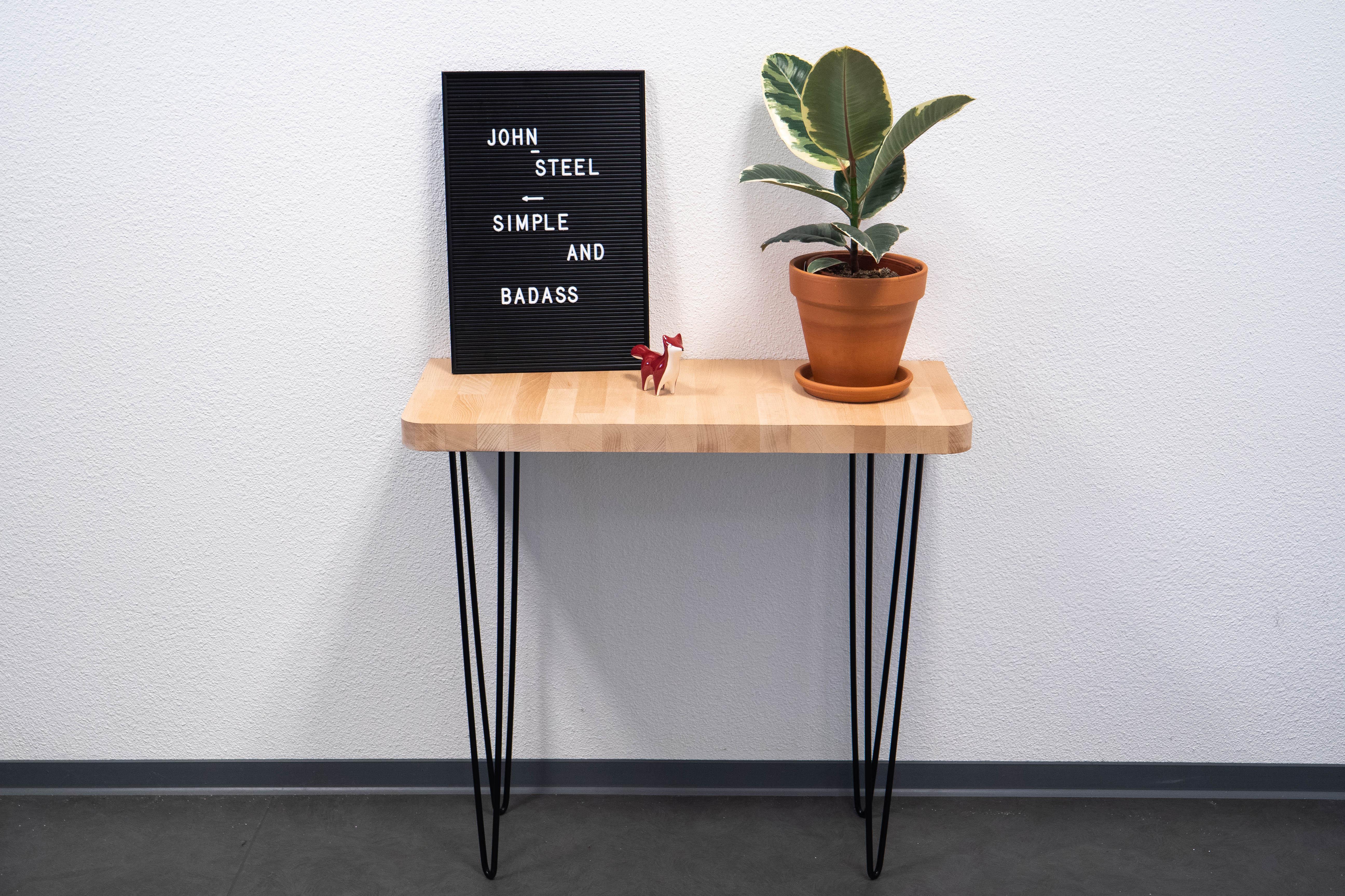 - Make a DIY custom solid wood side table