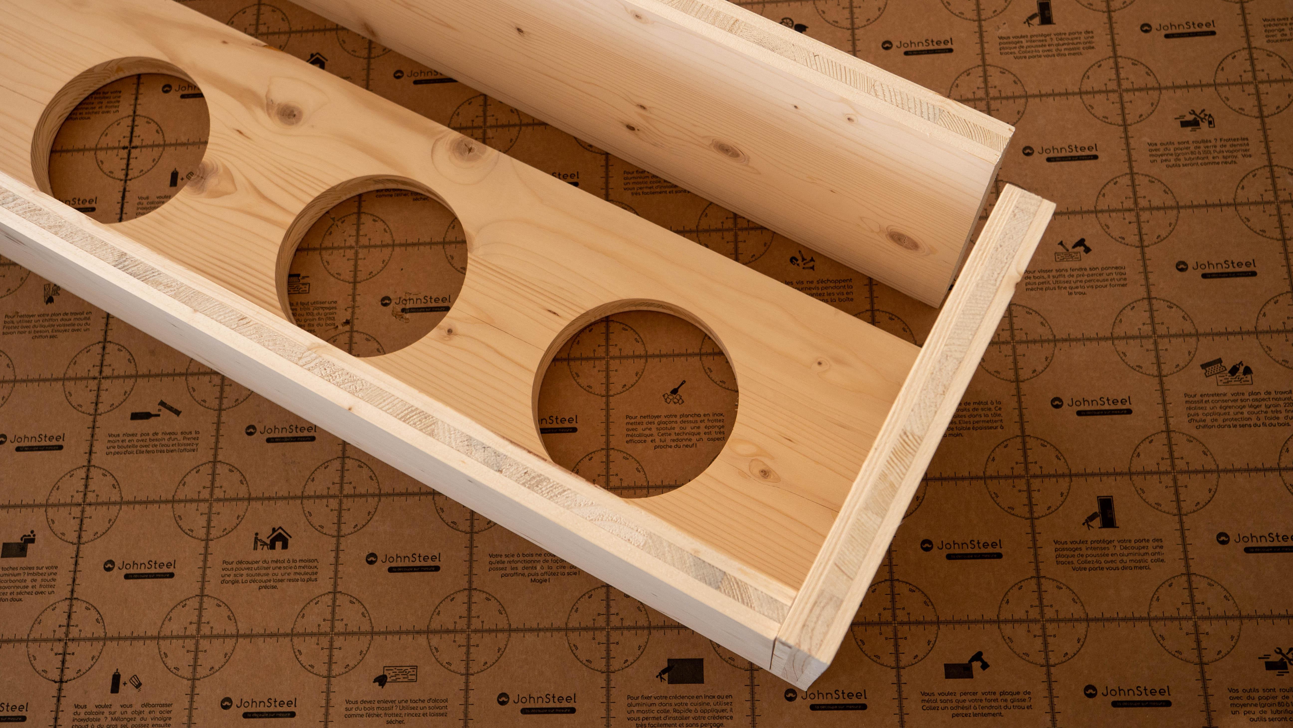 fabriquer un porte plante en bois