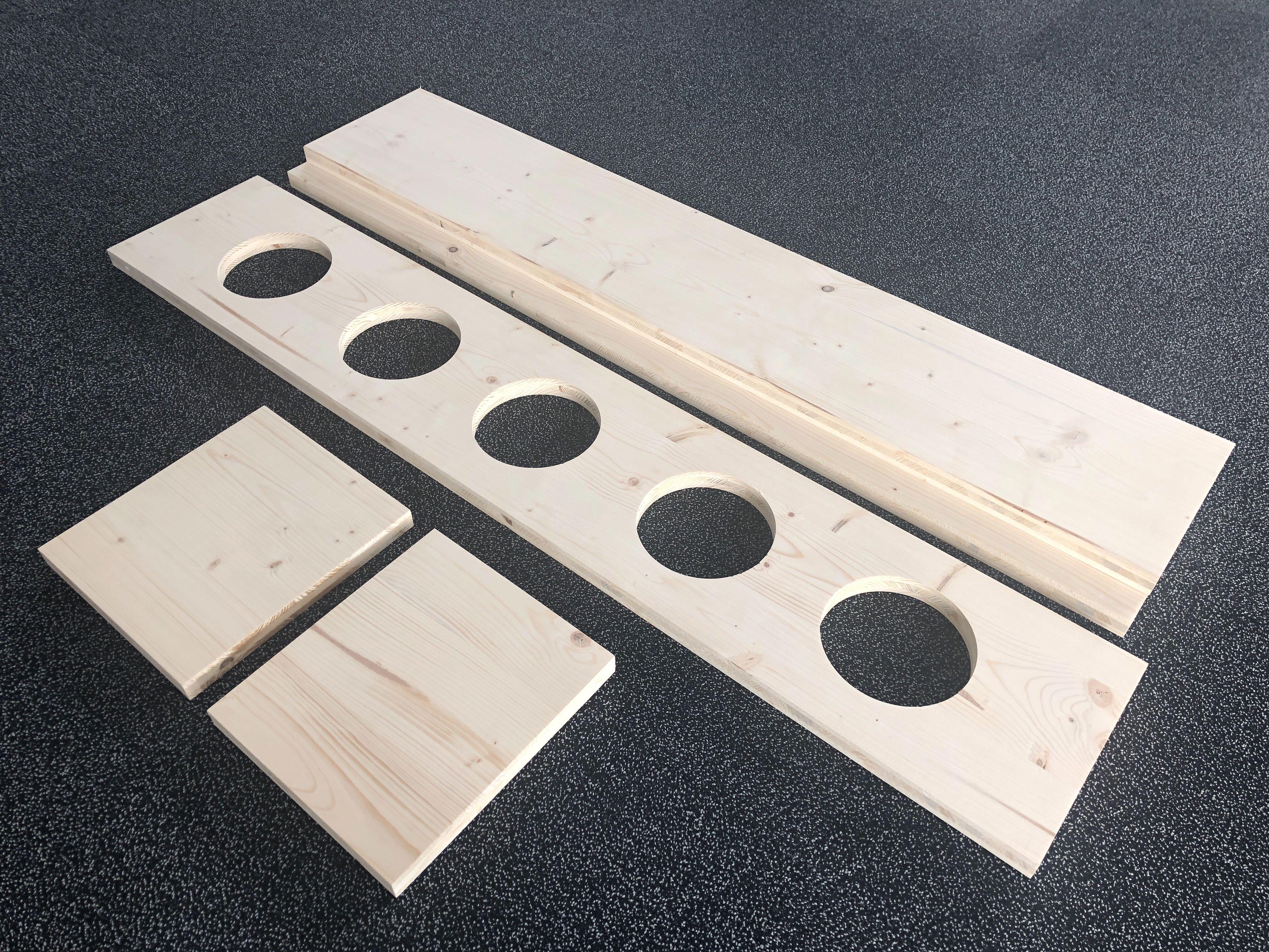 fabriquer un porte plante en bois sur mesure