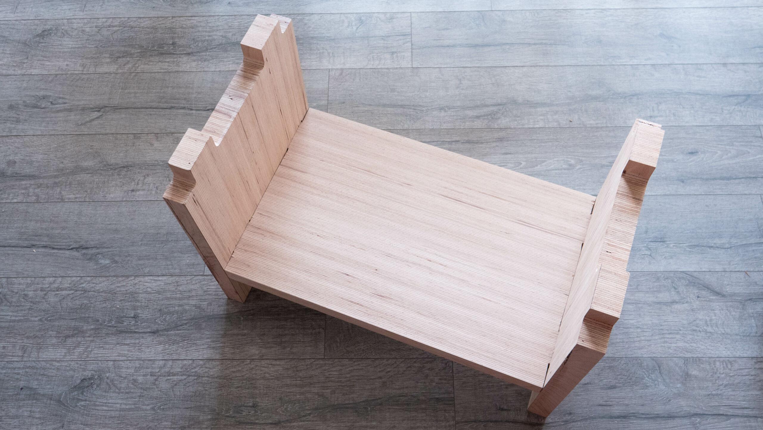 montage du banc en bois massif