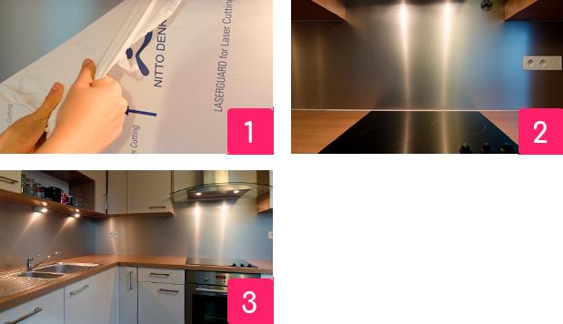 Schritte für die Anbringung Ihrer Küchenrückwand