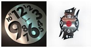 photo de deux horloges faites par nos steelsters