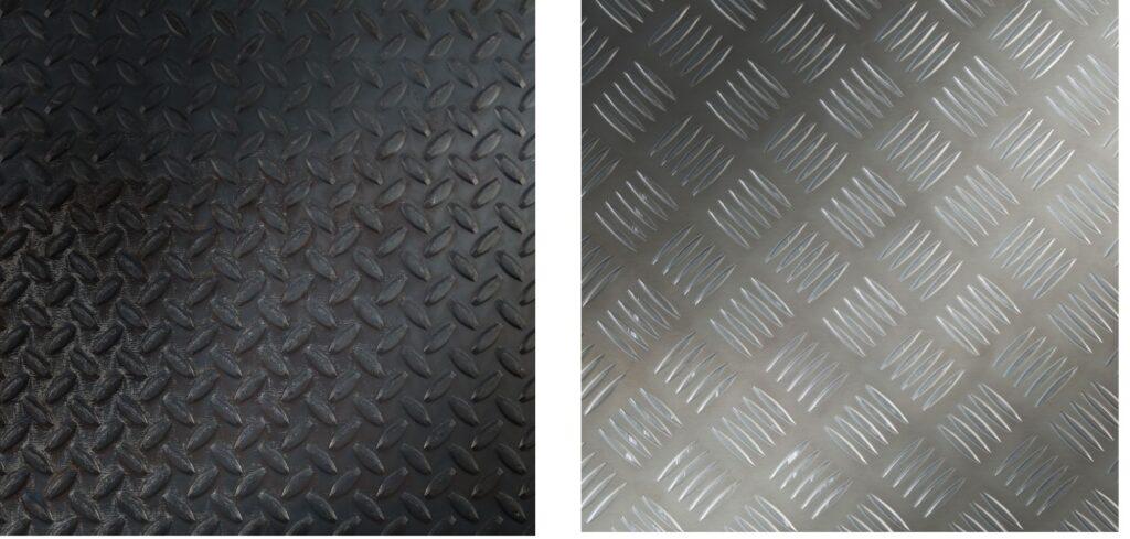 Riffelblech Stahl, Aluminium Blech rutschfest