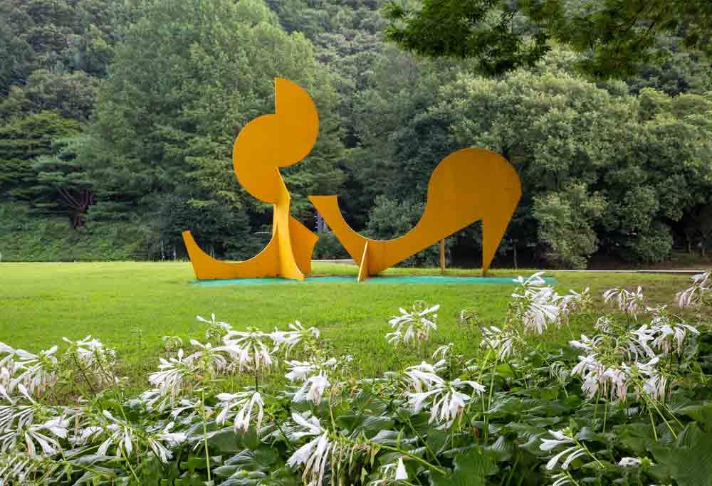 Sculpture en métal art abstrait